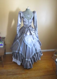 Steampunk / Gothic / Victorian Dress Vintage Gown on Etsy, $220.00