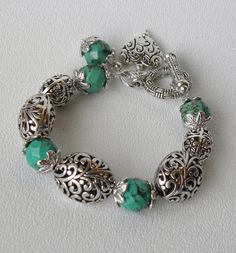 Isabella Handmade Beaded Bracelet by bdzzledbeadedjewelry on Etsy, $34.00
