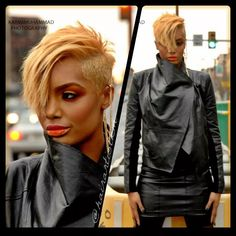 Today we have made a list of Short Colored Hair Ideas with Different Styles that will inspire you to update your hairstyle or hair color for this year! Short Sassy Hair, Short Hair Cuts, Love Hair, Great Hair, Coiffure Hair, Curly Hair Styles, Natural Hair Styles, Hair Affair, Relaxed Hair