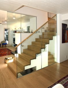 Faltwerkstiege #faltwerk #stiege #treppe #glas #holz #innendesign #interior House Staircase, Stairs, Home Decor, Wooden Stairs, Corning Glass, Stairway, Decoration Home, Room Decor, Staircases