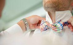 retro plaid bow tie.