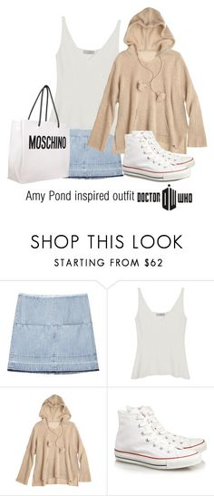 """""""Amy Pond inspired outfit/DW"""" by tvdsarahmichele ❤ liked on Polyvore featuring Aries, Mulberry, Calypso St. Barth, Converse and Moschino"""