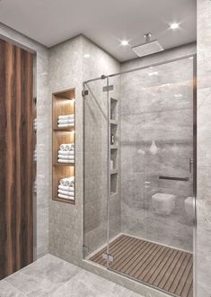 Small Full Bathroom, Modern Bathroom Design, Bathroom Interior Design, Bathroom Designs, Minimal Bathroom, Modern Small Bathrooms, Restroom Design, Modern Kitchens, Grey Kitchens