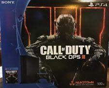 Sony PlayStation 4 - 500 GB Black Console Bundle w/ Call Of Duty: BLACK OPS III