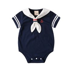 Summer Baby Rompers Cotton Baby Girl Clothes White Navy Style Baby Boy Clothes Newborn Baby Clothes Roupas Bebe Infant Jumpsuits – Home & Women Newborn Boy Clothes, Baby Outfits Newborn, Baby Boy Outfits, Kids Outfits, Baby Boy Romper, Baby Rompers, Baby Onesie, Sailor Baby, Navy Sailor
