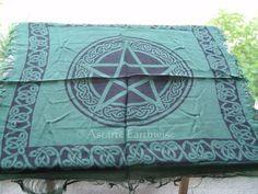 1 x PENTAGRAM ALTAR CLOTH 457 x 457 mm Wicca Pagan Witch Goth PENTACLE CLOTH