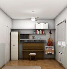 Soluções para um quarto de música.