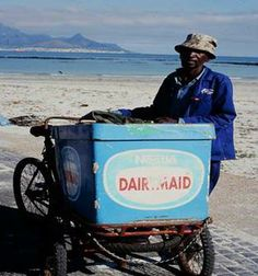 The Ice Cream man - Cape Town beaches Port Elizabeth, My Youth, My Land, African History, Pretoria, The Good Old Days, Back In The Day, Afrikaans, Cape Town