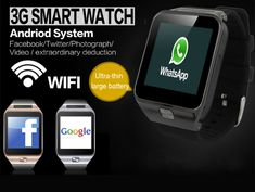Cheap Smart Watches, Buy Directly from China Suppliers:ELECTSHONG Smart WIFI Watch Dual Core CPU Bluetooth Smartwatch 512MB+4GB 3G Watch men GPS Camera support SIM Card TF card APP