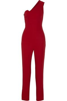 11987a27339d9 Tibi Two-tone silk and crepe jumpsuit