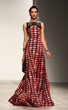 couture african clothing | You can not miss this the look of this bold African print. Look at how ...