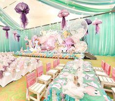 Purple and teal, dream of mermaids come true #mermaidparty #mermaidbirthday #dreamflavours