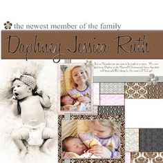 Newest Member - Divine Digital #Scrapbooking Layout from Creative Memories    http://www.creativememories.com