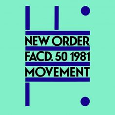 "Factory Records' famed record sleeve designer Peter Saville took some flack for his ""literal"" interpretation of Fortunato Depero's Futurist poster from 1932 for New Order's Movement Peter Saville, Top 100 Albums, Great Albums, Joy Division, Greatest Album Covers, Cd Packaging, Classic Artwork, Album Cover Design, Punk"