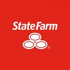 State Farm Vertical Logo Reversed white vertical logo on red background newsroom.statefar...