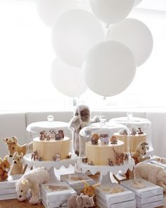 Learn how to make marzipan animals like those at Jude's first birthday party By Martha Stewart Martha Stewart, Baby Birthday, First Birthday Parties, First Birthdays, Birthday Table, Animal Birthday, Baby Shower Cakes, How To Make Marzipan, Fiestas Party