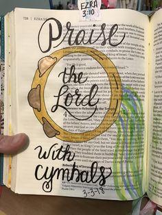 Ezra 3:10. Bible Journaling.