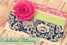 Washi Tape Embellished Stationery; for more inspiration and washi projects visit thewashiblog.com | #washi #washitape
