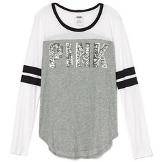 PINK NEW! Long Sleeve Curve Hem Tee Found on my new favorite app Dote Shopping Source by clothing Black Long Sleeve Shirt, White Long Sleeve, Long Sleeve Tops, Long Sleeve Shirts, Victoria Secret Outfits, Yellow T Shirt, Pink Outfits, Dressing, Pink Tops