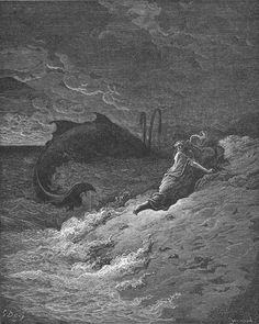 Jonah Is spewed forth by the whale - Jonah 2:1-11 - Paul Gustave Dore 1866
