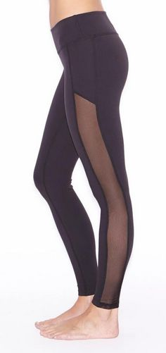 Web Exclusive! Crystal Mesh Long Legging by Beyond Yoga   Activewear, Leggings, Black Sheer Yoga pants   #iamBEYOND