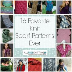 Find 16 Free Scarf Knitting Patterns n this collection of patterns. Which one will you knit first?
