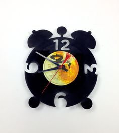 Clock RECORD  vinyl   ALARM CLOCK  by SNORO on Etsy