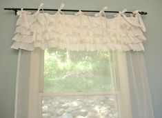 "Shabby Chic Bedroom Curtains. $85.00, via Etsy. Or...DIY using tutorials on ""Ruffles and Lace and Loveliness"" board on this site."