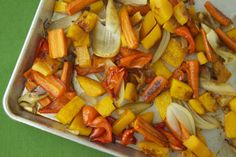 Maple Roast Veggies on Weelicious - veggies might taste better and retain more of their nutrients this way.