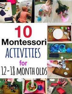 Montessori activities for young toddlers