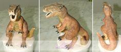 Figurine T-Rex pour gâteau /// T-Rex figure for cake