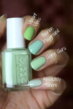 The Essie Resort 2016 Collection is finally here! I was soooo looking forward to this collection and anticipating my fave online s. Cute Nails, Pretty Nails, Hair And Nails, My Nails, Uv Gel Nagellack, Essie Nail Colors, Glitter Nail Polish, Toe Polish, Acrylic Nails