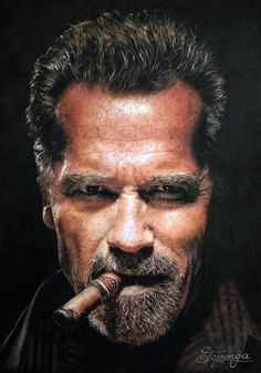 This drawing shows the actor Arnold Schwarzenegger. The photographer of the picture, Mr. Timothy White, kindly approved the usage to me. The drawing was created with coloured pencils (Prismacolor Premier, Polychromos Faber Castell) on Bristol Drawing Board (29,7 x 42 cm, 250g/m²). Creation date: april 2015.