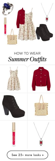 """summer outfit 68"" by adelineojeda on Polyvore featuring Hot Topic, Stila, Loeffler Randall, Wild Diva and Topshop"