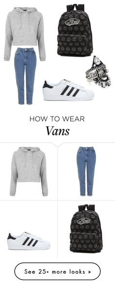 """""""Untitled #180"""" by ines-foverver on Polyvore featuring Topshop, adidas, Vans and BaubleBar"""