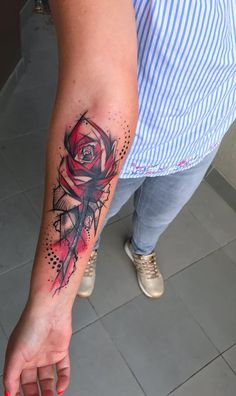 Trash Polka Tattoos, Explained and Illustrated - TATTOO rose trash polka tattoo © Adrian Cichoń 💖🌹💖🌹💖 Female Tattoos, Sexy Tattoos, Unique Tattoos, Body Art Tattoos, Sleeve Tattoos, Tattoos For Guys, Tattoos For Women, Tattoo Women, Quote Tattoos