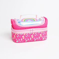 Buy Scribble Pop: Compartment Lunch Bag - Rainbow at Home Bargains Bags Game, Fresh Start, Product Label, Scribble, Back To School, Lunch Box, Rainbow, Pop, Rain Bow
