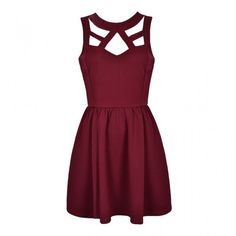 CUT OUT SKATER DRESS ($30) ❤ liked on Polyvore featuring dresses, vestidos, robe, short dresses, purple skater dress, purple mini dress, purple cocktail dresses, cutout mini dress and cut-out skater dresses