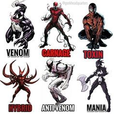 Drawing Marvel Comics Might make a part two cause this is only a few. Venom Comics, Marvel Venom, Marvel Villains, Marvel Comics Art, Marvel Fan, Marvel Memes, Marvel Characters, Chien Shiba Inu, Symbiotes Marvel
