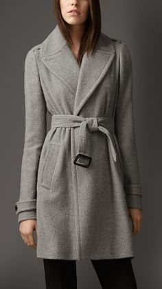 Cashmere Belted Wrap Coat | Burberry