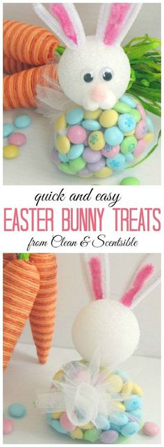 Easter Bunny Treats. These are really easy to make and SO cute! Perfect for Easter parties!