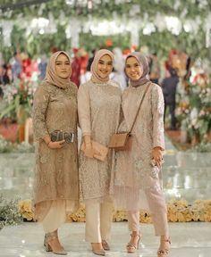 Tunik celana hijab - Another! Model Dress Kebaya, Model Kebaya Muslim, Dress Brokat Muslim, Kebaya Modern Hijab, Model Kebaya Modern, Kebaya Hijab, Dress Pesta, Kebaya Brokat, Hijab Gown