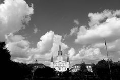 St. Louis Cathedral in New Orleans  Louisiana.  #neworleans #louisiana #stlouiscathedral #frenchquarter #jacksonsquare #travelstoke #blackandwhite by albertotrekker