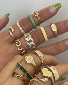 Nail Jewelry, Trendy Jewelry, Cute Jewelry, Gold Jewelry, Jewelry Rings, Jewelry Accessories, Fashion Jewelry, Jewlery, Luxury Jewelry