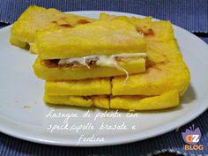 Avete della polenta in dispensa e non sapete come prepararla? Preparate queste lasagne con speck,cipolle brasate e fontina ed avrete un piatto unico o un contorno che piacerà a tutti! http://blog.giallozafferano.it/lacucinadimilena/lasagne-polenta-speckcipolle-brasate-fontina/