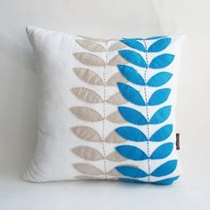 White Linen Pillow Cover  16x16 by sukanart on Etsy, $49.95