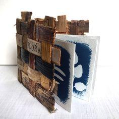 Mini Cyanotype Art Zine in Hand-Woven Banana Bark Cover - Botanical Artist Book, Eco Friendly Fibre Art - Flora Zine John Herschel, Cyanotype Process, Art Zine, Blue Tones, Watercolor Paper, Printing Process, Fiber Art, Eco Friendly, Hand Weaving