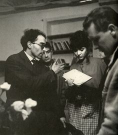 "Is the cinema more important than life? — Godard, Karina and Brialy on thw set of ""Une femme..."