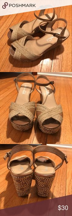 "Splendid platform sandals size 9. Splendid platform sandals size 9. Leather upper. Heel approx 3.5"". Splendid Shoes Platforms"