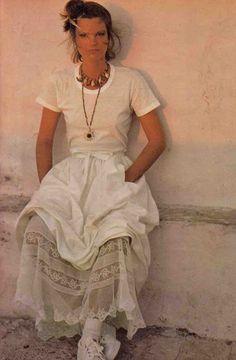 Emmanuelle Khanh, ELLE France - April 26 1976, Photographed by Peter Knapp